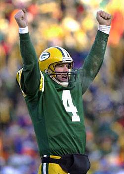 Brett Favre on the Packers