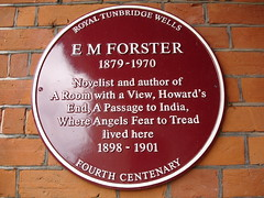 Photo of E. M. Forster claret plaque
