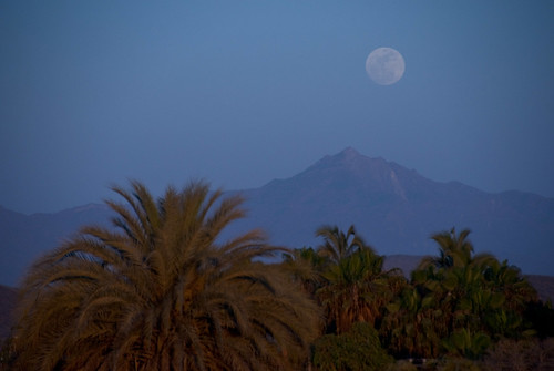 Moonrise Over the Sierra Laguna Mountains