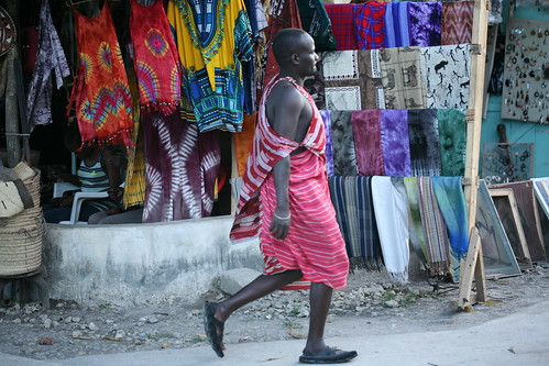 Masai man passing by