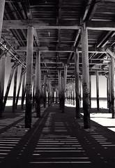 Old Orchard Beach Pier monochrome (Cindy Farr-Weinfeld) Tags: summer color tourism beach monochrome pier maine hdr hdri oldorchardbeach