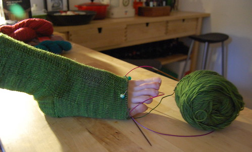 Sock in progress