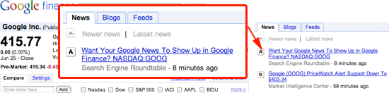 Google Finance SEO