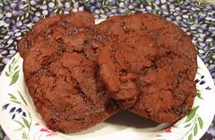 Chewy Chocolate Raspberry Cookies