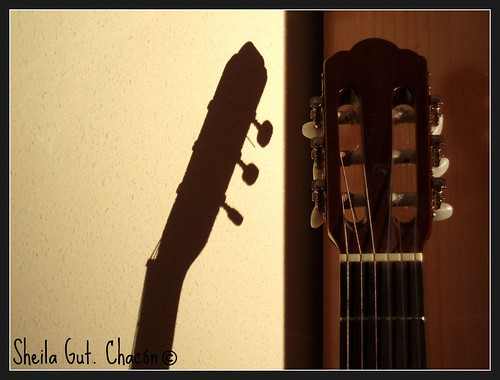 Classic guitar shadow