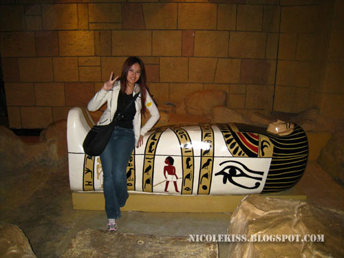 posing iwth Sarcophagus