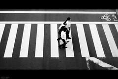 dismissed (totomai) Tags: bw japan 50mm tokyo stripes pedestrian monotone odaiba cinematic recession dismissed salarymen 18f challengeyouwinner nikond80