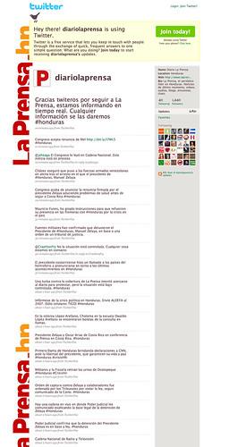 Honduras: La Prensa Twitter