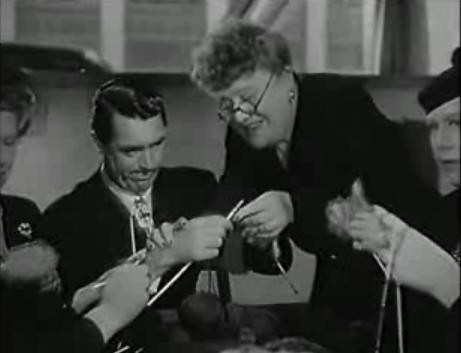 Mr Lucky - Cary Grant knitting