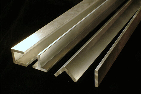 Aluminium extrusions in mill finish