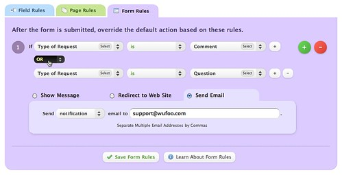 Multiple Conditions in Form Rules