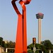 giant red sculpture