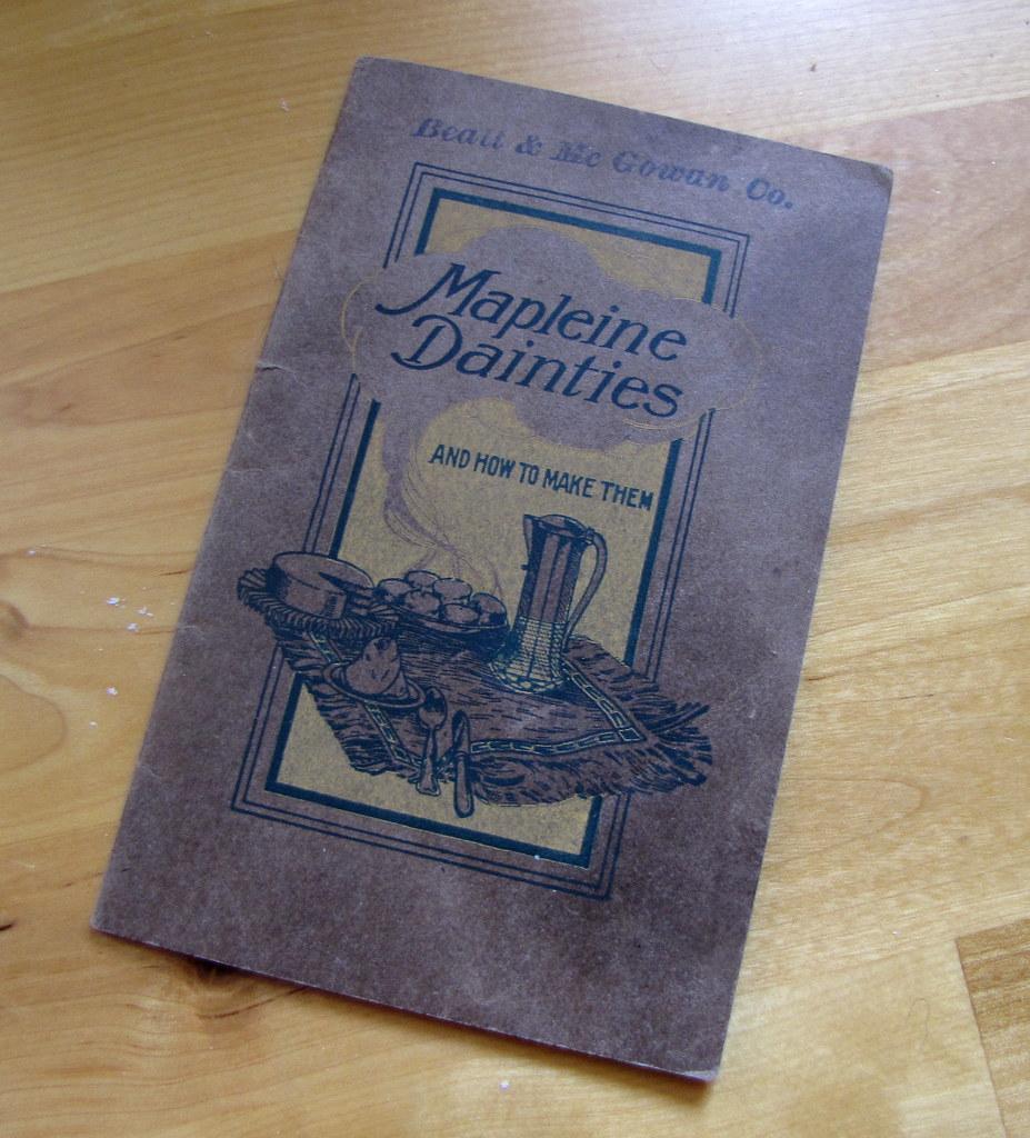 Mapleine Dainties cookbook