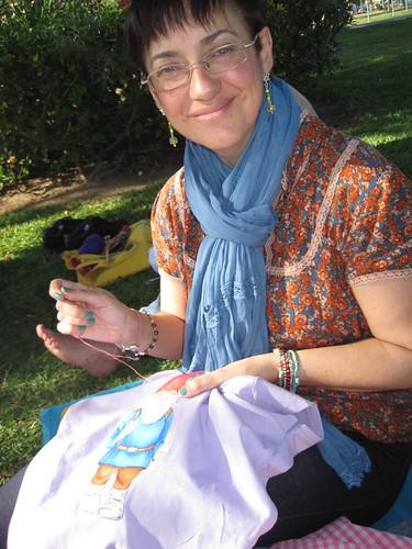 Victoria y su nueva camiseta