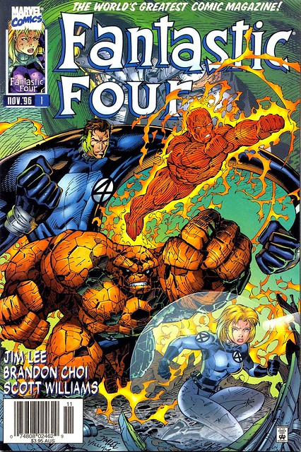Fantastic Four V2 1 1996 cover by Jim Lee