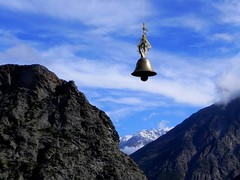 For whom the bell tolls.... (Lopamudra!) Tags: india mountain landscape sacred nanda himalaya kumaon lopamudra kumaun martoli