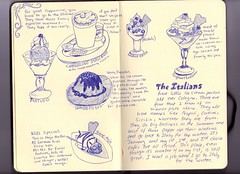 italians (Amy Garlick) Tags: moleskine germany words drawing cappuccino italians icecreamparlor eiscafe