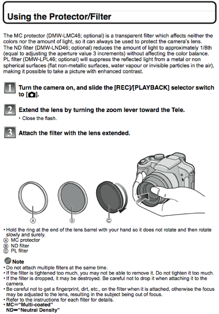 Using filters, as documented on page 122 of the FZ28 manual