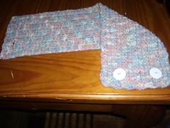 1 row neck warmer- open