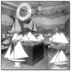 Fonds T Eaton department store display Ontario Canada (oldsailro) Tags: park old boy sea summer people sun lake playing ontario canada beach water pool girl sunshine youth sailboat race vintage shopping children fun toy boat miniature wooden store pond model waves sailing ship child time yacht antique group boom mat regatta hull spectators watercraft moel adolescence keel fashioned anada