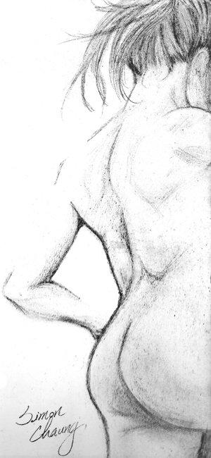 之前畫的作品, 裸女的背影