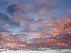 céu cor-de-rosa
