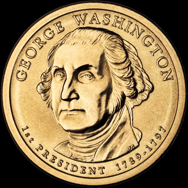 George Washington Presidential $1 Coin — First President, 1789-1797