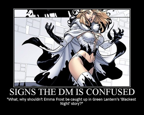 signs the DM is confused