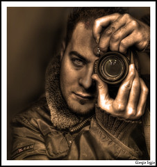 Dragan Style Effect Self Portrait (Gio  Photostream) Tags: camera bridge portrait selfportrait me lumix 1 photo bravo mood foto shot zoom photos mark contest style panasonic clockworkorange theme 5d simply 1ds dragan better luminous hdr hotguy fotocamera superzoom 3xp migliore photomatix 18x tonemapping tonemap aranciameccanica dragans fz28 reflectyourworld dmcfz28