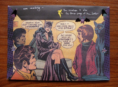 Catwoman fold and mail