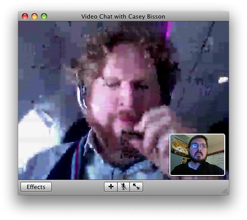 iChat via Virgin America