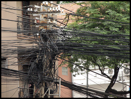 a gallery of electrical cabling gone wild pingdom royal rh royal pingdom com Overhead Wiring in India India Cable Pics