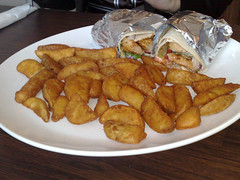 Chicken kebab at Ramzes for lunch in Edinburgh