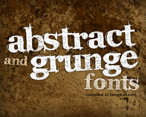 grunge and abstract fonts