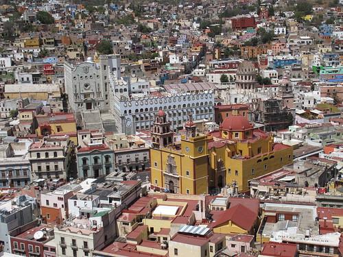 Guanajuato from above Mexico