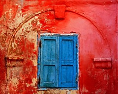 red house with blue window (Z Eduardo...) Tags: africa blue red urban house window colors wall architecture morocco maroc safi colorphotoaward aplusphoto platinumheartaward betterthangood