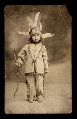 f_boyindian_rppc (ricksoloway) Tags: children oldphotos photohistory vintagephotos antiquephotos photographica indiancostumes childrenincostumes