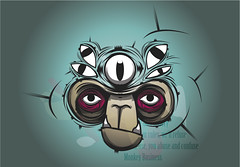 affe-face (_ido) Tags: illustration monkey eyes chimp monk business ape illustrator vector ido vektor