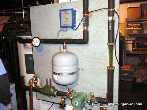 Solar hot water control panel