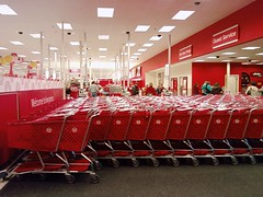Target - Fort Dodge, Iowa - Shopping Carts / Front End (fourstarcashiernathan) Tags: price shopping fort cut iowa walmart target dodge temporary carts checkouts