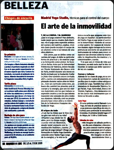 prensa ABC- Madrid Yoga Studio