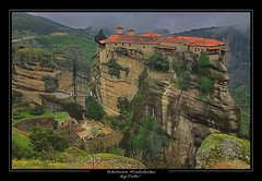 Exploring Greece - Meteora (tolis*) Tags: church clouds canon rocks god greece monastery tamron meteora chios kalambaka 50d eos50d tolis    flioukas 18270vc ttikala