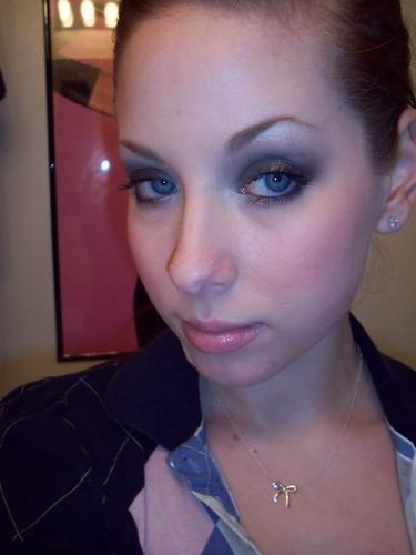 smokey black eye makeup. NYX jumbo eye shadow pencil in