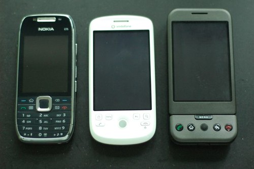 Nokia E75, HTC Magic, Goggle G1