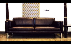 _relax (isayx3) Tags: light ikea leather 35mm relax store nikon natural display couch f2 nikkor d3 plainjoe