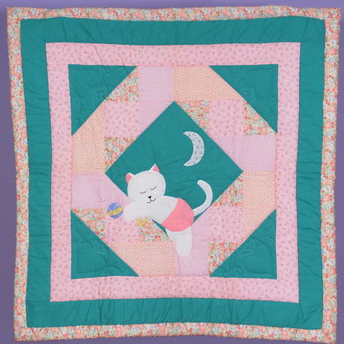 Goodnight Kitty Baby Quilt
