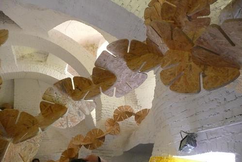 André Bloc - Sculpture-habitacle n°2, 1964  - Meudon - France + installation d'Ernesto Neto