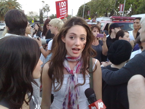 Day of Decision Rally, West Hollywood, California,  May 26 2009.  Emmy Rossum.