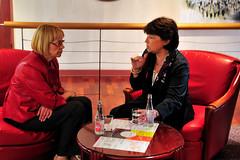 Maria Badia i Martine Aubry  a Nantes (2009)