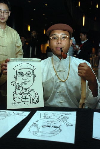 Caricature live sketching for CPGairport D&D - 2